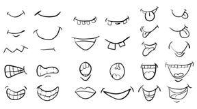 Conception réglée d'icône de symbole de vecteur de bouche de bande dessinée Bel illustrat illustration de vecteur