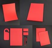 Conception réglée de papeterie Calibre de papeterie Template de corporation pour des dessin-modèles d'affaires Image libre de droits