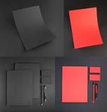 Conception réglée de papeterie Calibre de papeterie Template de corporation pour des dessin-modèles d'affaires Photo stock