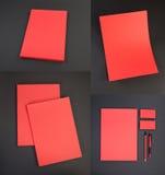 Conception réglée de papeterie Calibre de papeterie Template de corporation pour des dessin-modèles d'affaires Photographie stock