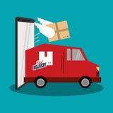 Conception rapide de la livraison illustration libre de droits