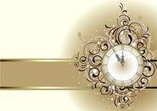Conception romantique de Noël avec l'horloge antique images libres de droits