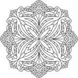 Conception ronde abstraite de dentelle - mandala, élément décoratif Image libre de droits