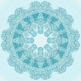 Conception ronde d'abrégé sur turquoise Images libres de droits