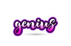 conception rose calligraphique de typographie d'icône de logo des textes de police de génie illustration de vecteur
