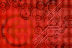 Conception rouge Image libre de droits