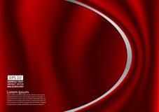 Conception rouge abstraite des courbes ou le tissu ou le fond liquide d'illustration de vague illustration libre de droits