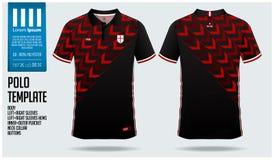Conception rouge de calibre de sport de polo de flèche pour le débardeur de football, le kit du football ou le sportwear Folâtrez illustration libre de droits