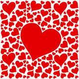 Conception rouge de coeurs d'amour sur le fond blanc Images stock