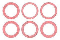 Conception rouge de vecteur de cadre de porcelaine illustration stock