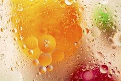 Conception rouge/orange/texture abstraites colorées jaunes/vertes Beaux milieux image libre de droits