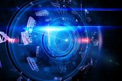 Conception rougeoyante bleue de technologie Image libre de droits