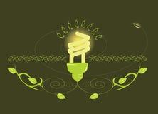 Conception rougeoyante d'ampoule Photos libres de droits