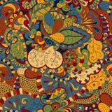 Conception sans couture de filigrane de mehndi de hina paisley Image libre de droits