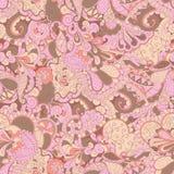Conception sans couture de filigrane de mehndi de hina paisley Photographie stock libre de droits