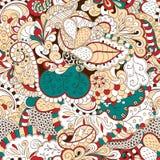 Conception sans couture de filigrane de mehndi Paisley, s'enroulant Photographie stock libre de droits