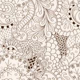 Conception sans couture de filigrane de mehndi Paisley, s'enroulant Photo stock
