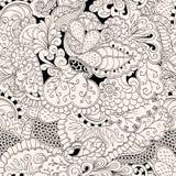 Conception sans couture de filigrane de mehndi Paisley, s'enroulant Photos stock