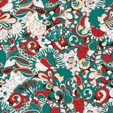 Conception sans couture de filigrane de mehndi Paisley, s'enroulant Photographie stock