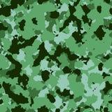 Conception sans couture de modèle de camouflage Couleurs vertes illustration stock