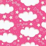 Conception sans couture de modèle d'enfants de nuages et d'étoiles illustration libre de droits