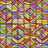 Conception sans couture de modèle d'ornement ethnique coloré Texture de vecteur illustration stock
