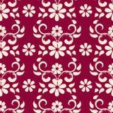 Conception sans couture de modèle de fleurs texturisée par brosse sèche Photographie stock libre de droits