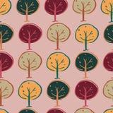 Conception sans couture de mod?le de r?p?tition de r?gion bois?e d'arbres illustration libre de droits
