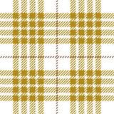 Conception sans couture dorée de modèle de plaid de tartan illustration de vecteur