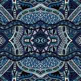 Conception sans couture ethnique orientale bleue de modèle Photos libres de droits