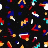 Conception sans couture géométrique du modèle 80s illustration libre de droits
