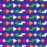 Conception sans couture géométrique du modèle 80s illustration stock