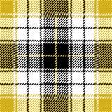 Conception sans couture jaune de modèle de plaid de tartan illustration de vecteur