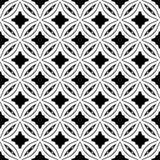 Conception sans couture noire et blanche de modèle de vecteur Image libre de droits