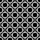 Conception sans couture noire et blanche de modèle de vecteur Photographie stock