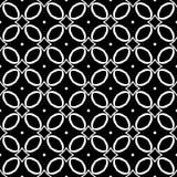 Conception sans couture noire et blanche de modèle de vecteur Images stock