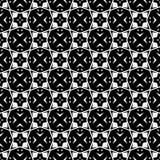 Conception sans couture noire et blanche de modèle de vecteur Photo stock