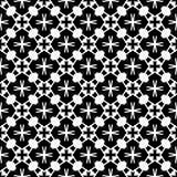 Conception sans couture noire et blanche de modèle de vecteur Image stock