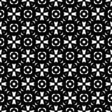Conception sans couture noire et blanche de modèle de vecteur Images libres de droits