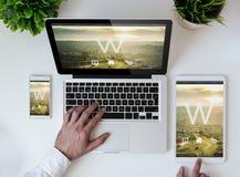 conception sensible de table de bureau photos libres de droits