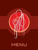 Conception simple de carte de rétro restaurant Image stock