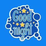 Conception sociale d'insignes de message de réseau de media d'autocollant de bonne nuit illustration stock