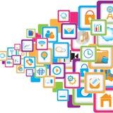 Conception sociale de communication Images libres de droits