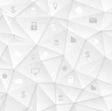 Conception sociale de communication de basse poly technologie grise Photo stock