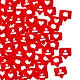 Conception sociale de media Photographie stock libre de droits