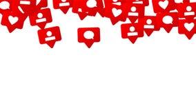 Conception sociale de media Image libre de droits