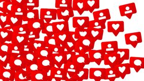 Conception sociale de media Image stock