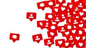 Conception sociale de media Photos libres de droits