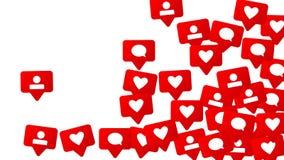 Conception sociale de media Images libres de droits