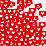 Conception sociale de media Images stock